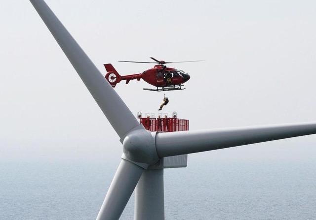 Helicopter Approach & Landing on helidecks in a Wind-park