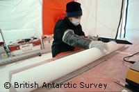 Ice cores reveal 2.5 degree Celsius increase in 150 years