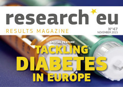 Issue 47 of the research*eu results magazine: Tackling diabetes in Europe