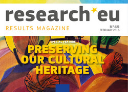 Issue 49 of the research*eu results magazine: Preserving our cultural heritage