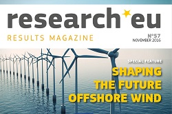 Issue 57 of the research*eu results magazine – Shaping the future of offshore wind