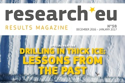 Issue 58 of the research*eu results magazine – Drilling in thick ice: lessons from the past