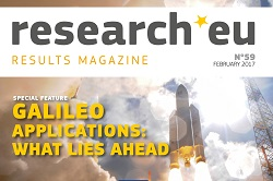 Issue 59 of the research*eu results magazine – Galileo applications: what lies ahead