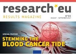 Número 65 de la revista de resultados research*eu — Frenar la marea del cáncer de células sanguíneas
