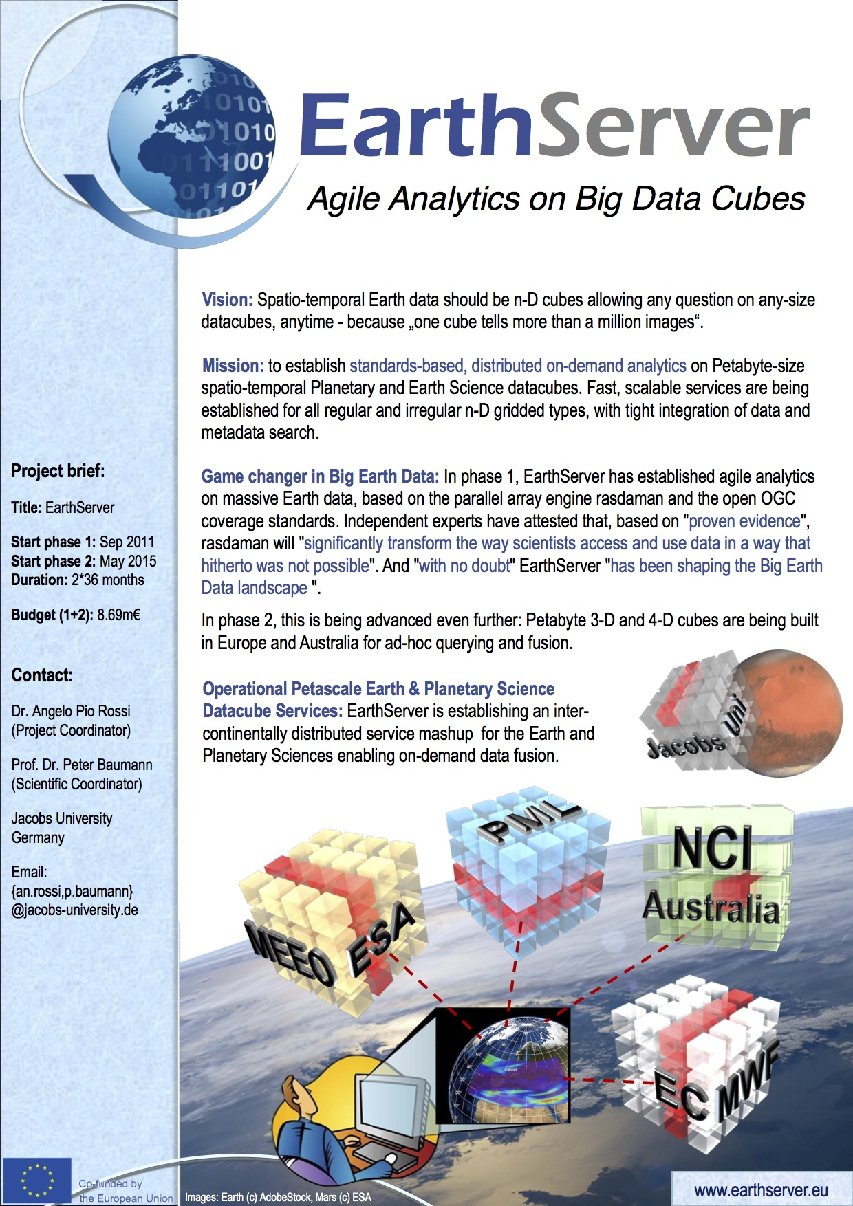 Agile Analytics on Big Data Cubes | EarthServer-2 Project