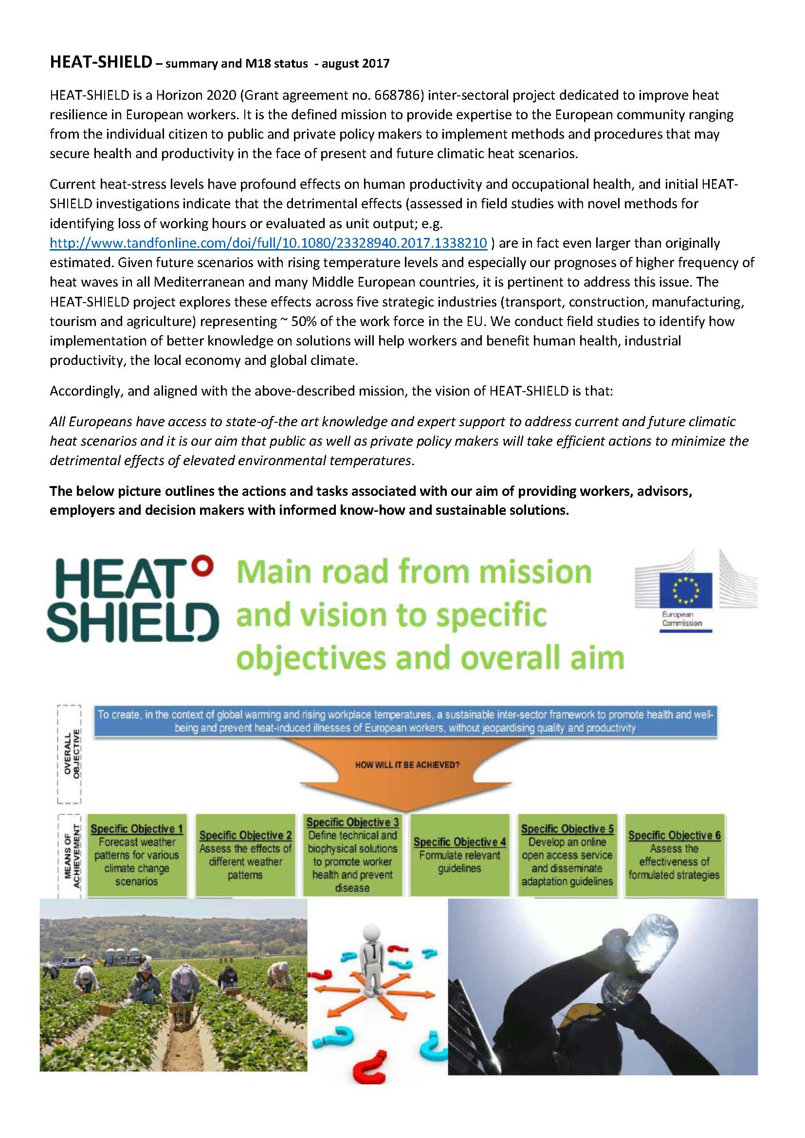 Integrated inter-sector framework to increase the thermal resilience