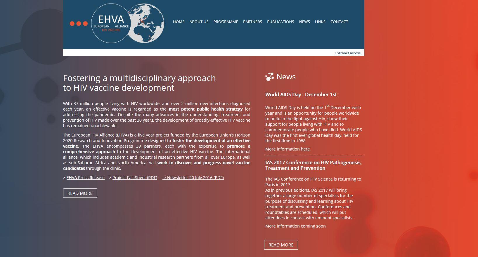 European HIV Vaccine Alliance (EHVA): a EU platform for the