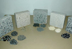 Greening concrete with secondary raw materials