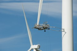 Acousto-ultrasonics for wind turbine blade inspection
