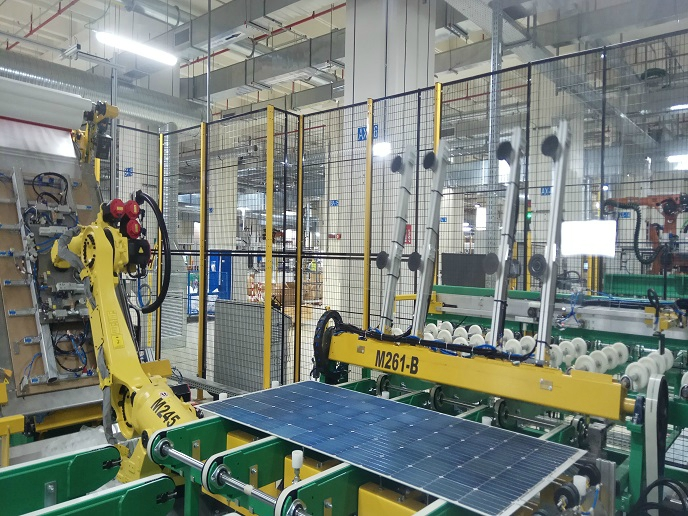 Automated photovoltaic cell and Module industrial Production to