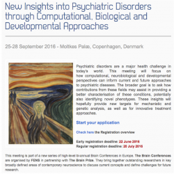 The Brain Conferences: New Insights into Psychiatric Disorders through Computational, Biological and Developmental Approaches