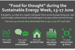 Food for thought during the EU Sustainable Energy Week: 5 days, 5 key topics, 5 lunch academy webinars