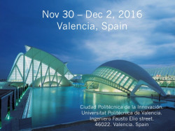 Big Data Value Association Valencia Summit. Big Data driving business