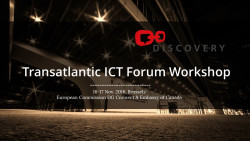 Transatlantic ICT Forum Workshop Brussels, 16-17 November