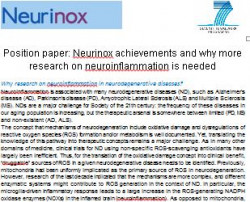 Position paper: Neurinox achievements and why more research on neuroinflammation is needed