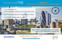 4th TAB-in Sessions during the European Nanomedicine Meeting 2017 in London