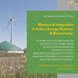 EUBCE 2017: Biomass and Integration in Future Energy Systems and the Bioeconomy