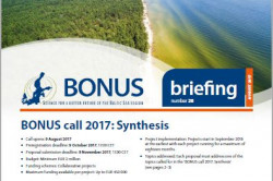 A minimum of EUR 2 million available for knowledge synthesis desktop-studies on sustainable use of Baltic Sea ecosystem services
