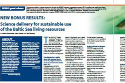 Complementary science delivery for sustainable use of the Baltic Sea living resources - results by BONUS INSPIRE and BIO-C3 projects