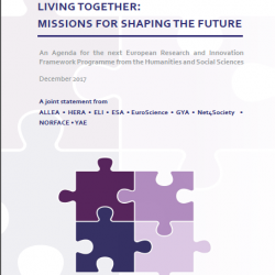 Living together: Missions for Shaping the Future. An Agenda for the next European Research and Innovation Programme
