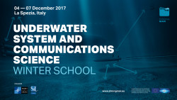 Winter School on Underwater System and Communications Science