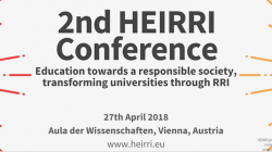 2nd HEIRRI Conference 'Education towards a responsible society, transforming universities through RRI'