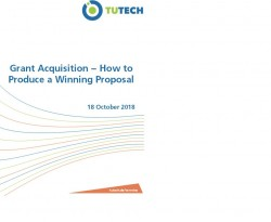 Grant Acquisition – How to Produce a Winning Proposal on 18th October 2018 in Hamburg