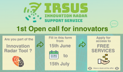 IRSUS: open call for innovators who want to achieve success in the market