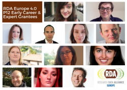 Meet the RDA 12th Plenary European Early Career and Experts grant winners