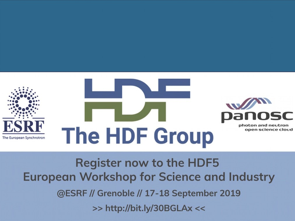 Register now to the HDF5 European Workshop for Science and Industry